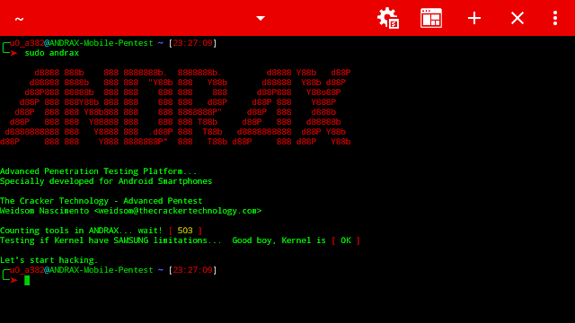 ANDRAX v3 – The First And Unique Penetration Testing Platform For Android Smartphones