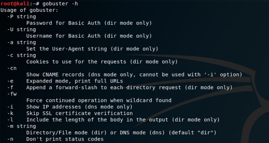 GoBuster v3.0 –  Directory/File, DNS and VHost busting tool written in Go