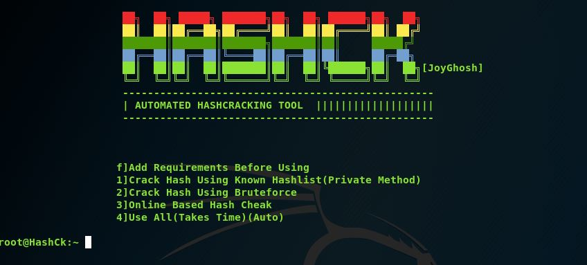 HashCK – Automated Hashcracking Tool