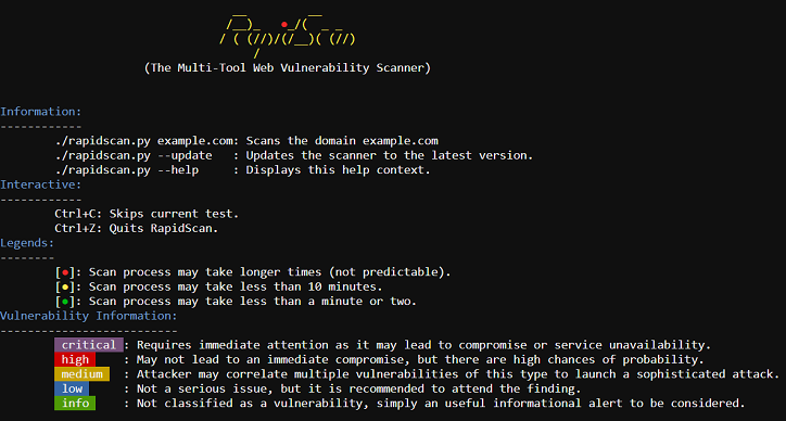 RapidScan – The Multi-Tool Web Vulnerability Scanner