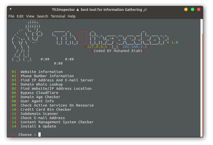Th3Inspector – All in one Tool for Information Gathering