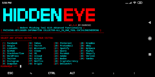 Hidden Eye – Modern Phishing Tool With Advanced Functionality