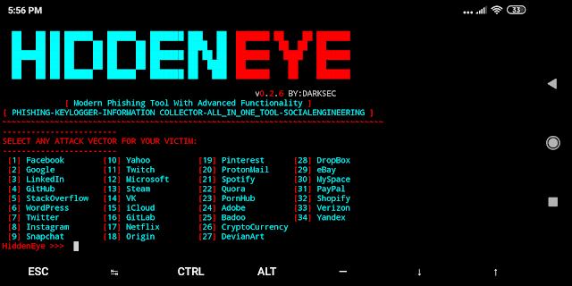 Hidden Eye – Modern Phishing Tool With Advanced Functionality