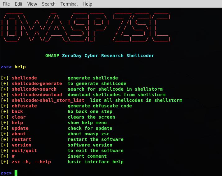 OWASP ZSC – Zeroday Shellcoder