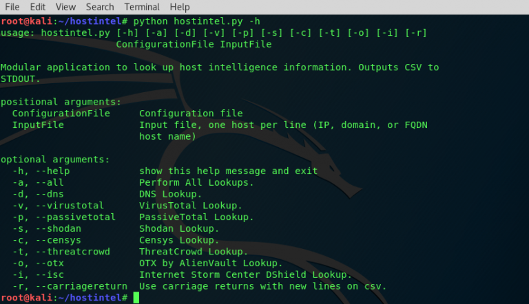 Hostintel – Tool to Collect Host Intelligence