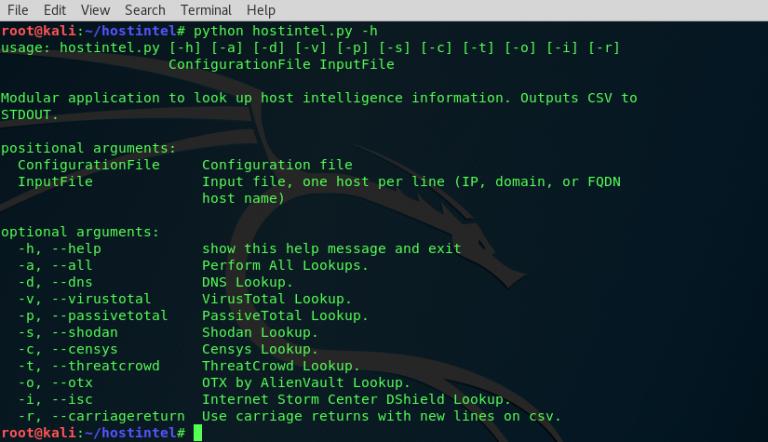 Hostintel – Tool to Collect Host Intelligence