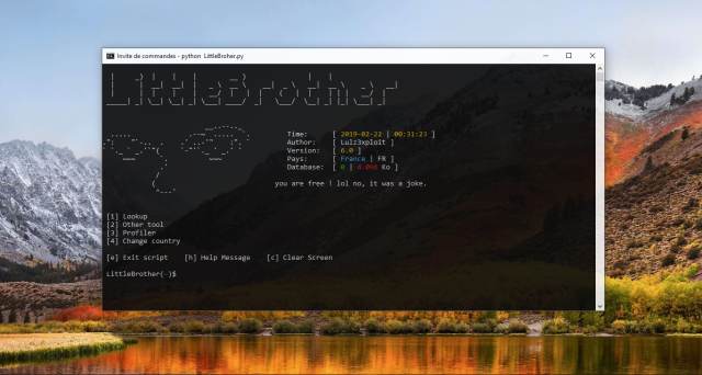 LittleBrother –  Information Gathering (OSINT) on a person in EU