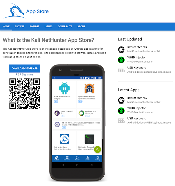Kali NetHunter App Store – The New Android Store Dedicated to Free Security Apps