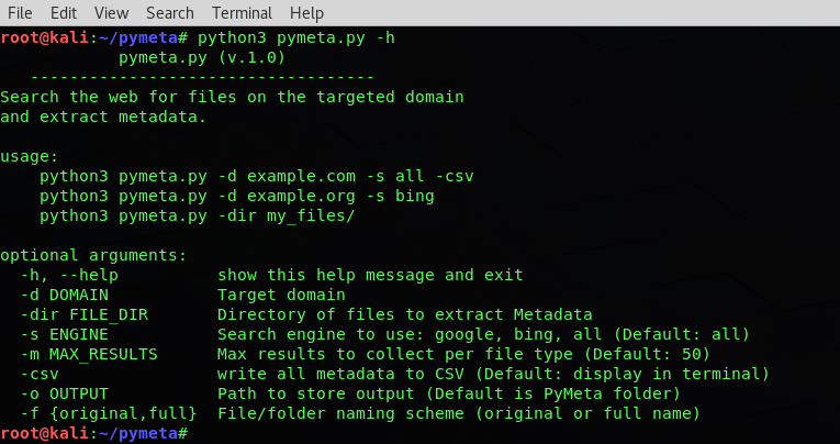 PyMeta – Domain Metadata Extractor