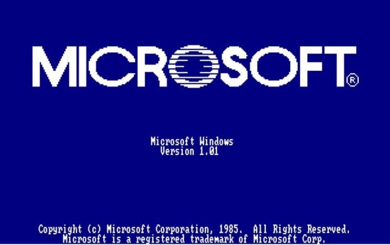 Microsoft suddenly introduced the Windows 1.0