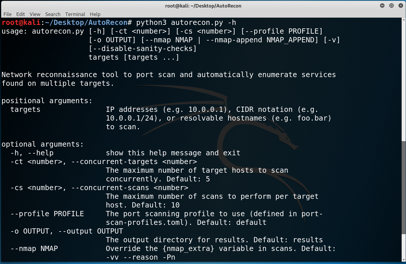 AutoRecon: Multi-Threaded Network Reconnaissance Tool