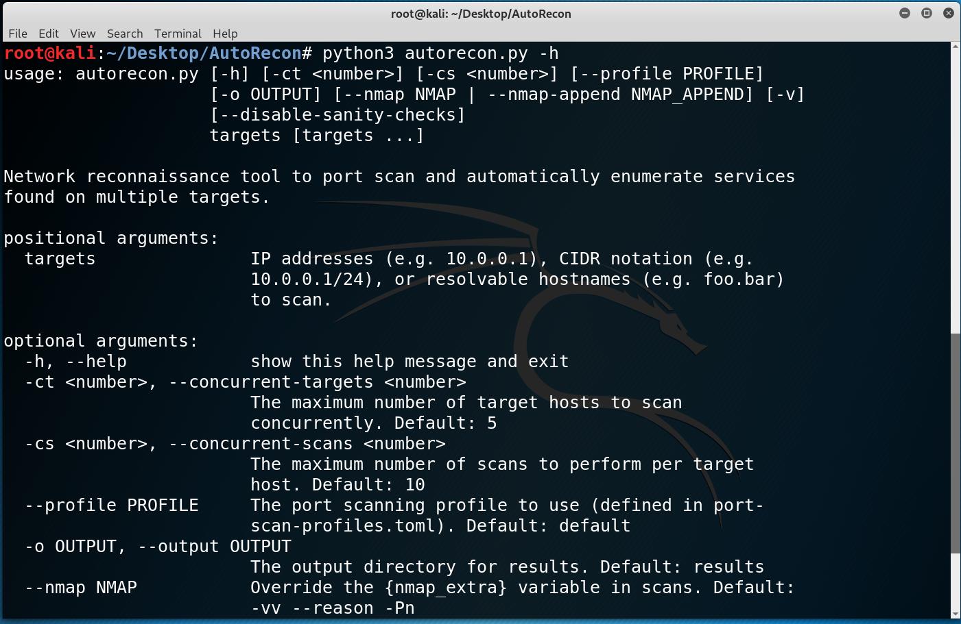 AutoRecon: Multi-Threaded Network Reconnaissance Tool