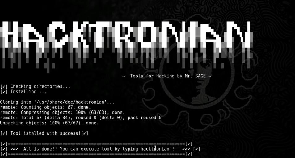 Hacktronian – All In One Hacking Tool For Linux & Android