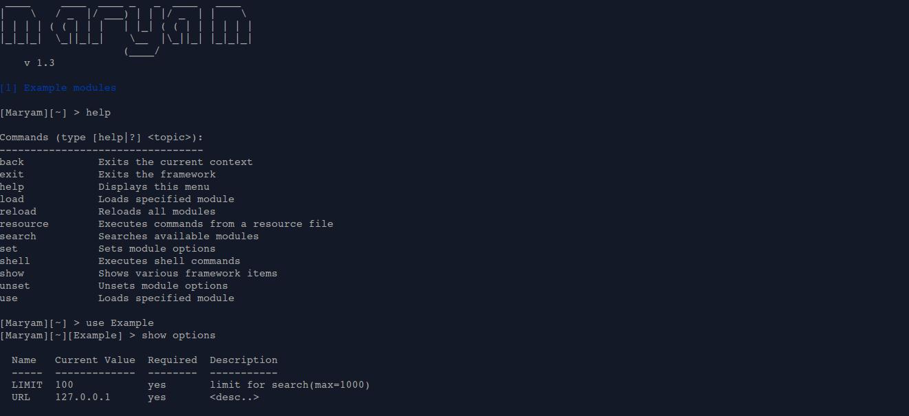 OWASP Maryam – Framework for Open-Source Intelligence