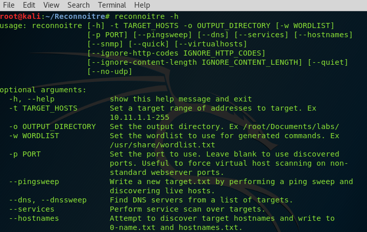 Reconnoitre – Multithreaded Recon and Enumeration Tool