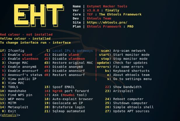 Ehtools – Framework Of Serious Wi-Fi Penetration Tools