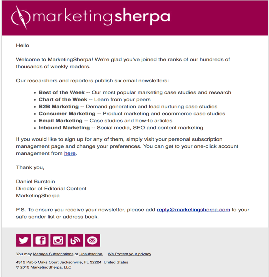 5 Best Welcome Email Examples That seals Trust With Your Subscribers