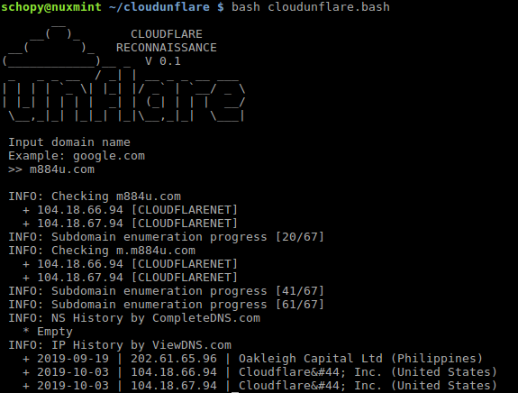 CloudUnflare – Reconnaissance Real IP Address For Cloudflare Bypass