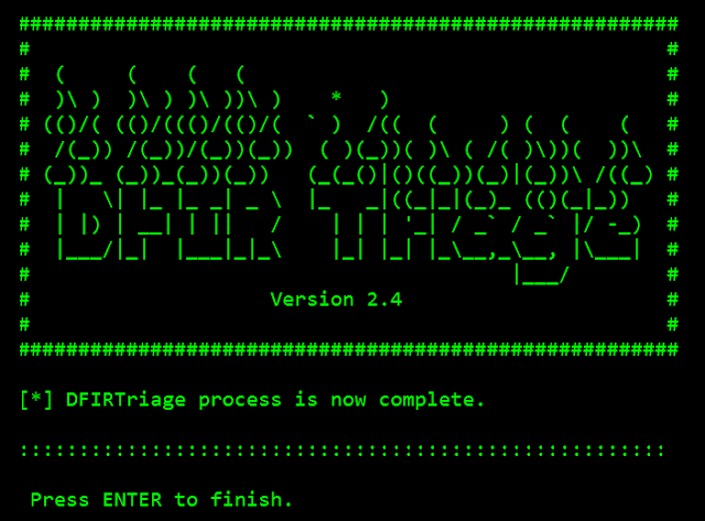 DFIRtriage – Digital Forensic Acquisition Tool For Windows Based Incident Response