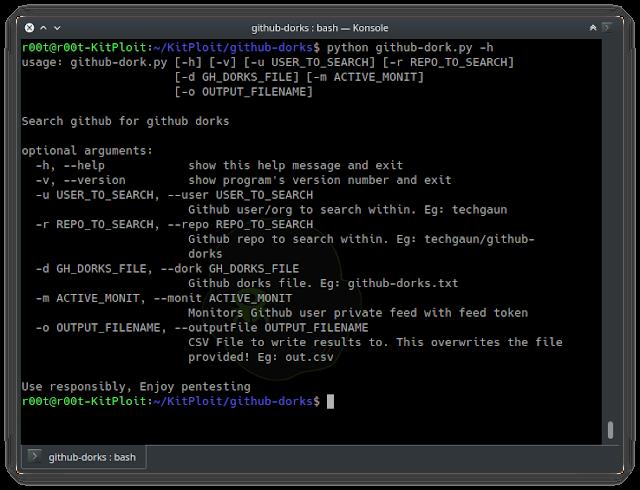 Github-Dorks - Collection Of Github Dorks And Helper Tool To Automate The Process Of Checking Dorks