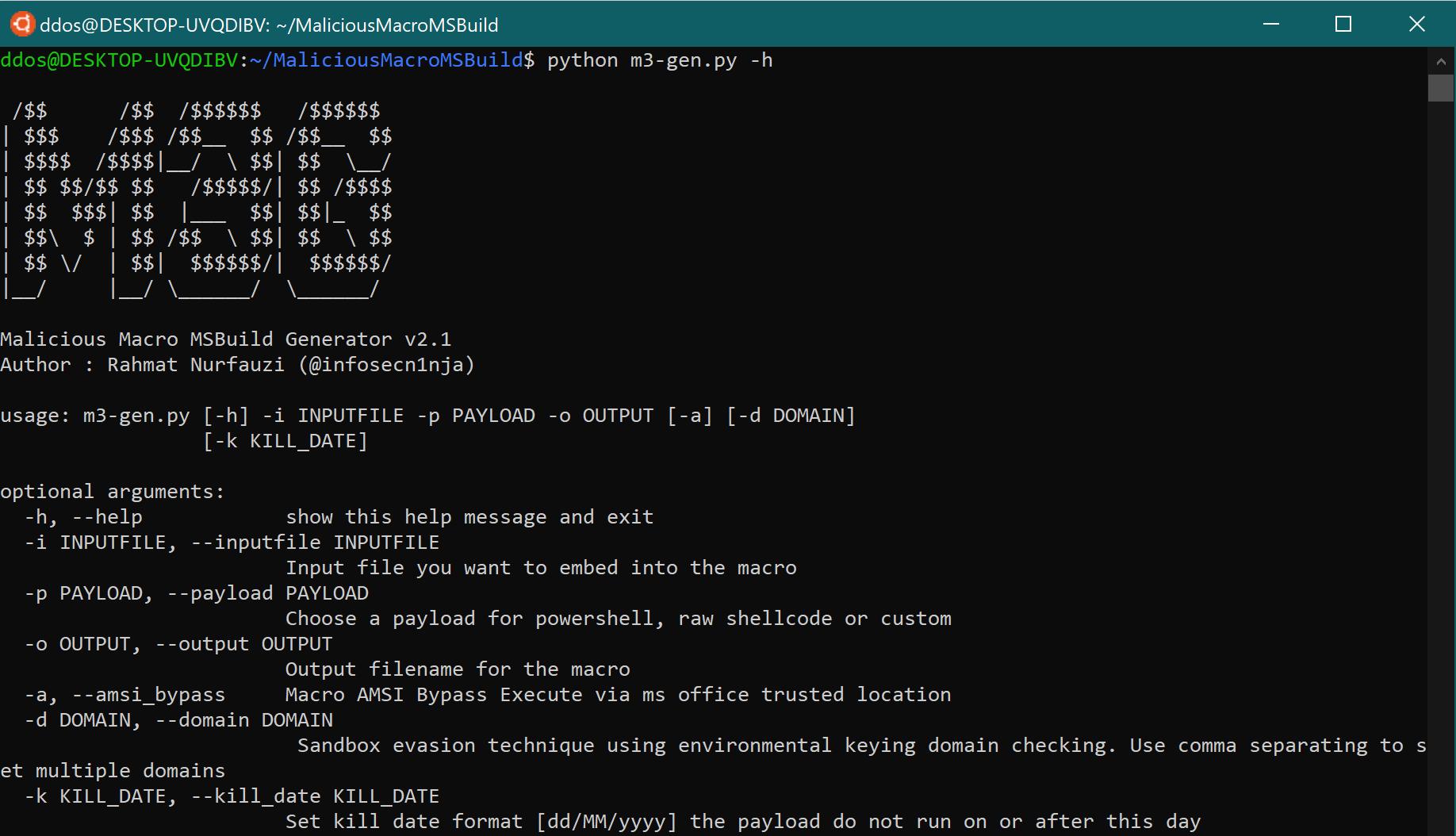 MaliciousMacroMSBuild: Generates Malicious Macro and Execute Powershell or Shellcode