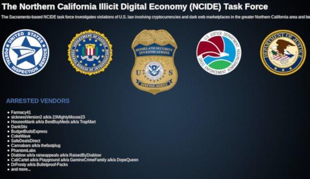 NCIDE Task Force Identified Another Darkweb Vendor