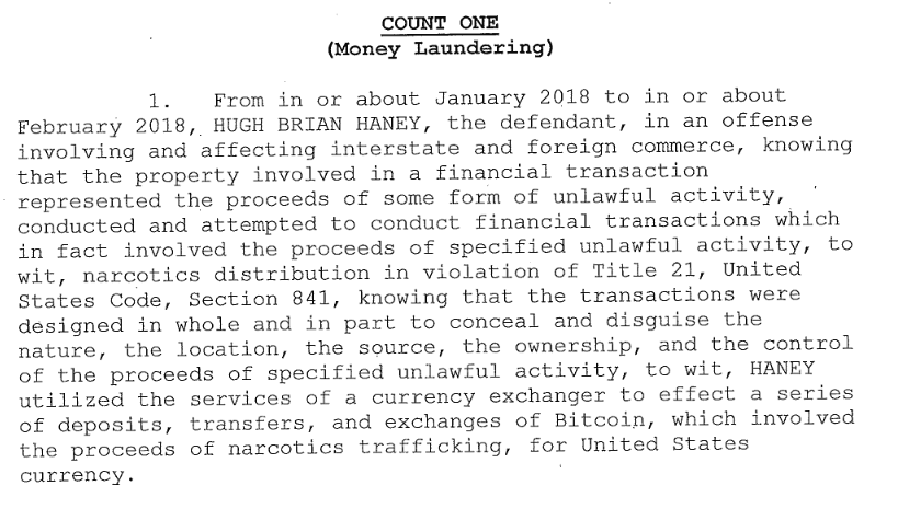 The Money Laundering Charge