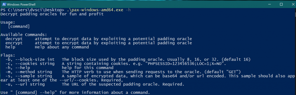 pax: CLI tool for PKCS7 padding oracle attacks
