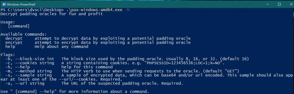 pax: CLI tool for PKCS7 padding oracle attacks