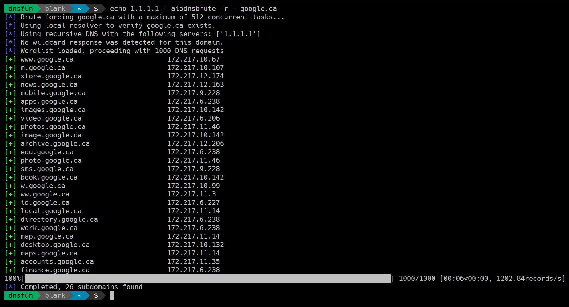 Async DNS Brute: DNS asynchronous brute force utility