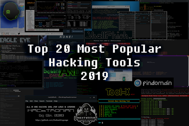 Top 20 Most Popular Hacking Tools in 2019