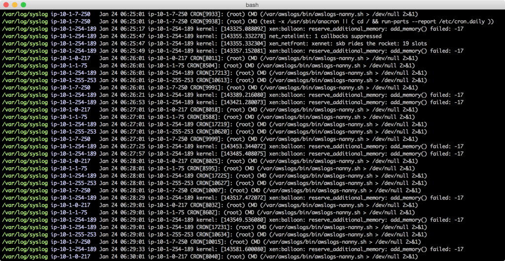 awslogs: AWS CloudWatch logs for Humans