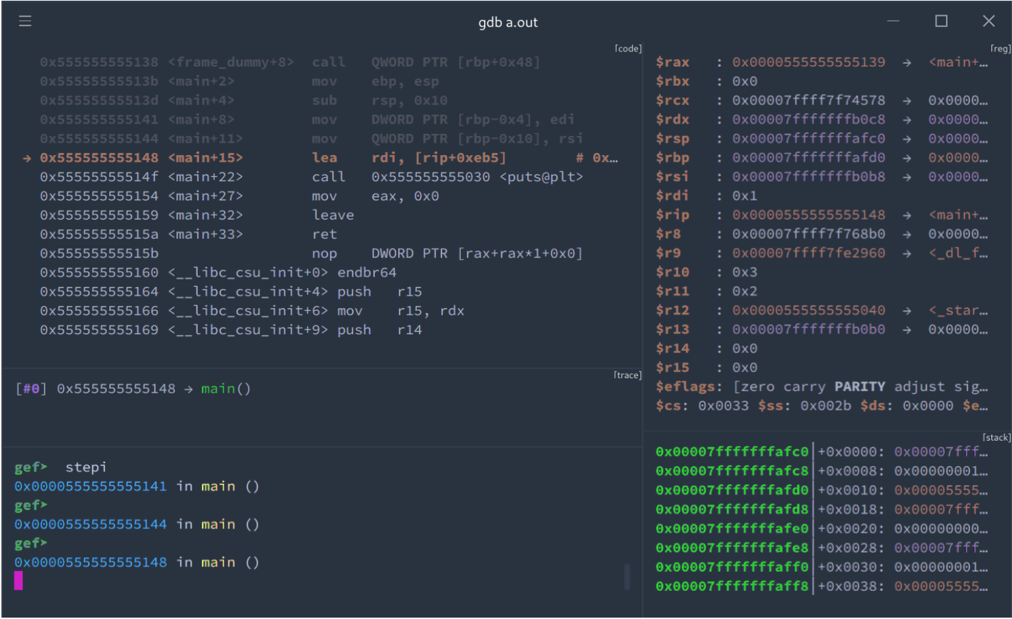 hyperpwn: provide a flexible debugger UI for GEF and pwndbg
