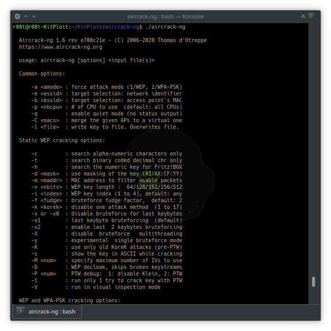 Aircrack-ng 1.6 – Complete Suite Of Tools To Assess WiFi Network Security