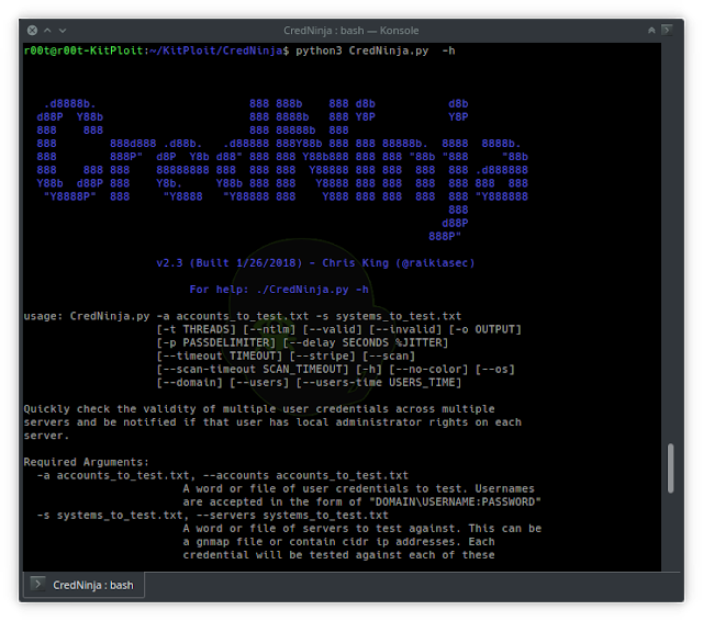 CredNinja – A Multithreaded Tool Designed To Identify If Credentials Are Valid, Invalid, Or Local Admin Valid Credentials Within A Network At-Scale Via SMB, Plus Now With A User Hunter