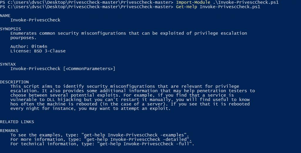 PrivescCheck: Privilege Escalation Enumeration Script for Windows