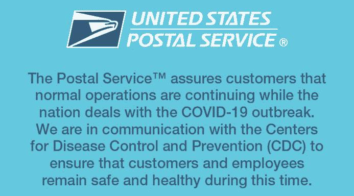 Coronavirus Has Not Stopped the United States Postal Service