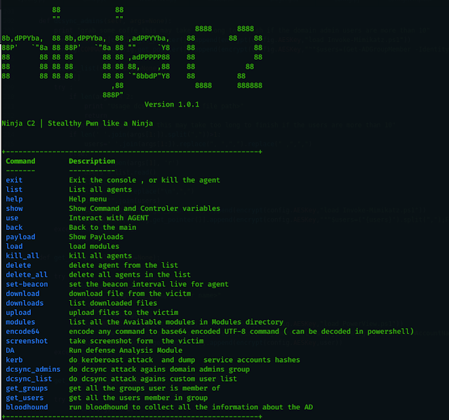 Ninja – Open Source C2 Server Created For Stealth Red Team Operations