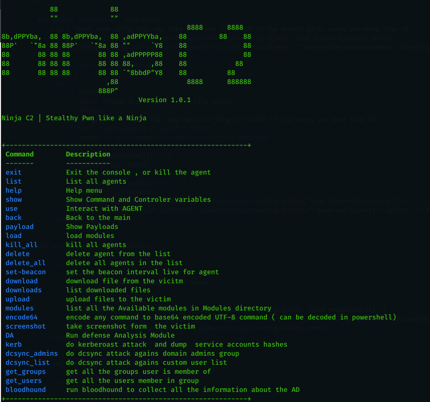 Ninja: Open source C2 server created for stealth red team operations