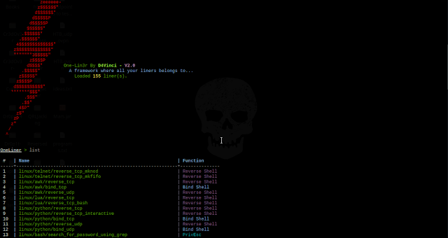 One-Lin3r v2.1 - Gives You One-Liners That Aids In Penetration Testing Operations, Privilege Escalation And More