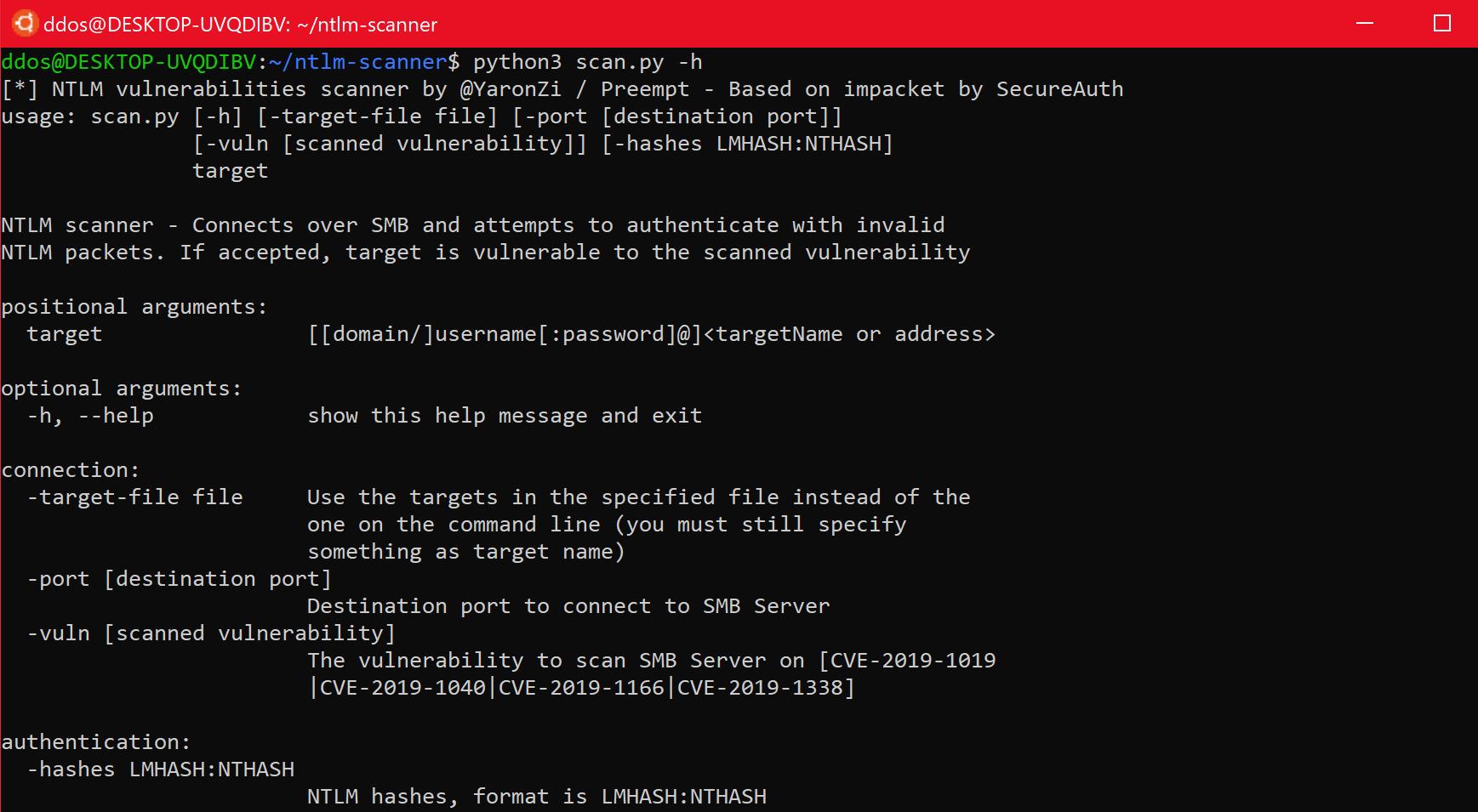 ntlm-scanner: tests servers for various known NTLM vulnerabilities