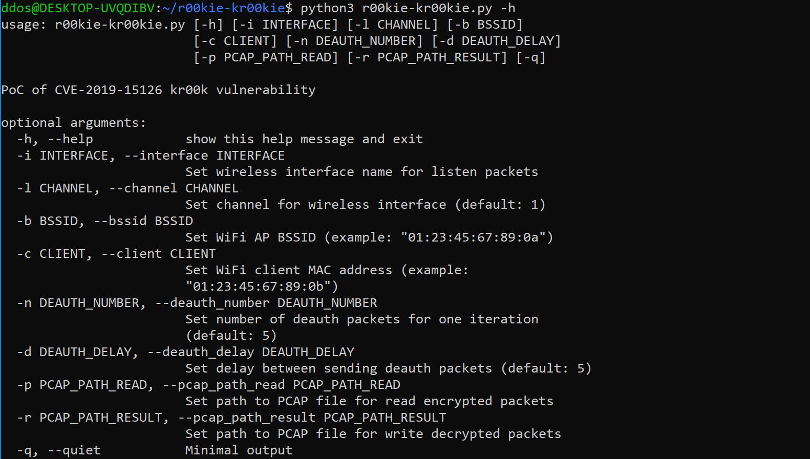 r00kie-kr00kie: PoC for vulnerability in Broadcom and Cypress Wi-Fi chips