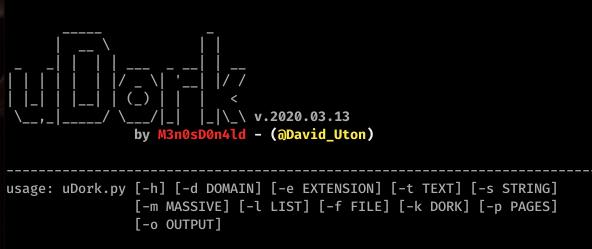 uDork - Google Hacking Tool