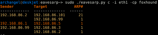 Eavesarp - Analyze ARP Requests To Identify Intercommunicating Hosts And Stale Network Address Configurations (SNACs)
