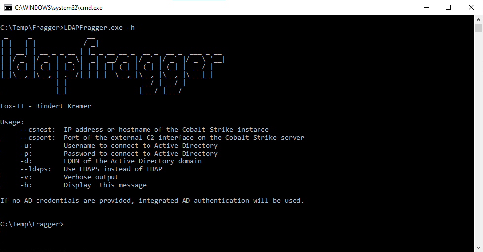 LDAPFragger: Command and Control tool