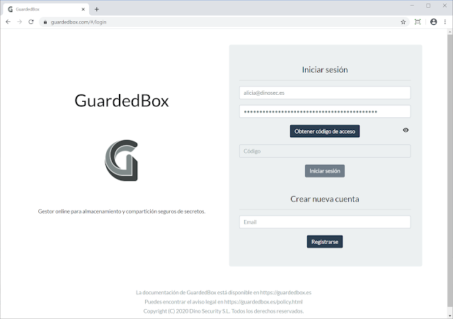 Guardedbox – Online Client-Side Manager For Secure Storage And Secrets Sharing