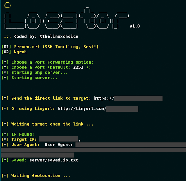 Locator - Geolocator, Ip Tracker, Device Info By URL (Serveo And Ngrok)