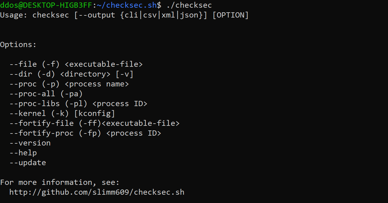 checksec v2.2.1 releases: check the properties of executables